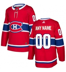 Men's Montreal Canadiens adidas Red Authentic Custom Jersey
