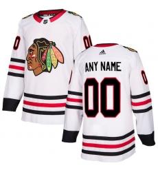 Men's Chicago Blackhawks adidas White Authentic Custom Jersey