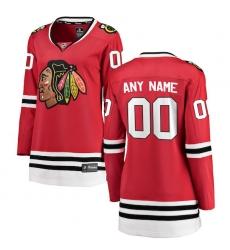 Women's Chicago Blackhawks Fanatics Branded Red Home Breakaway Custom Jersey