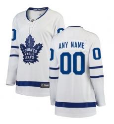 Women's Toronto Maple Leafs Fanatics Branded White Away Breakaway Custom Jersey