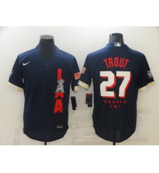 Men's Los Angeles Angels of Anaheim #27 Mike Trout Nike Navy 2021 All-Star Game Replica Player Jersey