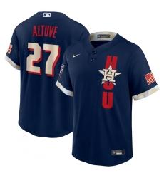 Men's Houston Astros #27 José Altuve Nike Navy 2021 MLB All-Star Game Replica Player Jersey