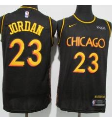 Men's Chicago Bulls #23 Michael Jordan Black Nike Swingman Basketball Jersey