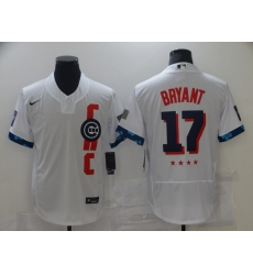 Men's Chicago Cubs #17 Kris Bryant Nike White 2021 MLB All-Star Game Authentic Jersey