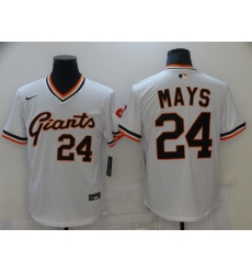 Men's Nike San Francisco Giants #24 Willie Mays Authentic White Jersey