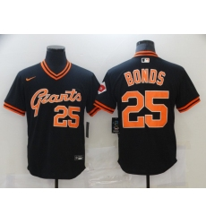 Men's Nike San Francisco Giants #25 Barry Bonds Black Fashion Baseball Jersey