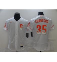Men's San Francisco Giants #35 Brandon Crawford Nike White 2021 City Connect Replica Player Jersey
