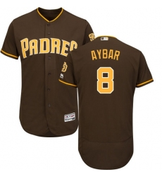 San Diego Padres #8 Erick Aybar Brown Flexbase Authentic Collection Stitched MLB Jersey