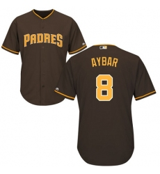 Youth San Diego Padres #8 Erick Aybar Brown Cool Base Stitched MLB Jersey