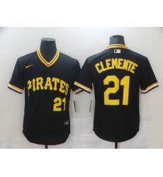 Men's Pittsburgh Pirates #21 Roberto Clemente Nike Black MLB Jersey