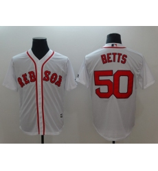 Men's Boston Red Sox #50 Mookie Betts White Authentic Jersey
