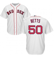 Youth Majestic Boston Red Sox #50 Mookie Betts Replica White Home Cool Base MLB Jersey