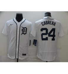 Men's Nike Detroit Tigers #24 Miguel Cabrera White Home Stitched Jersey