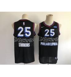 Men's Philadelphia 76ers #25 Ben Simmons Nike Black 2020-21 Swingman Jersey