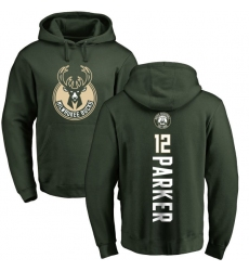 NBA Nike Milwaukee Bucks #12 Jabari Parker Green Backer Pullover Hoodie