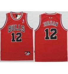 Bulls #12 Michael Jordan Red Nike Throwback Stitched NBA Jersey