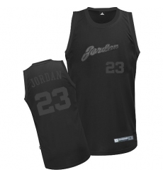 Men's Adidas Chicago Bulls #23 Michael Jordan Authentic All Black NBA Jersey