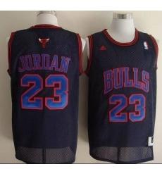 Men's Adidas Chicago Bulls #23 Michael Jordan Swingman Black Blue No. NBA Jersey