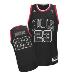 Men's Adidas Chicago Bulls #23 Michael Jordan Swingman Black Shadow NBA Jersey