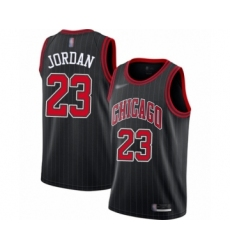 Men's Chicago Bulls #23 Michael Jordan Authentic Black Finished Basketball Jersey - Statement Edition