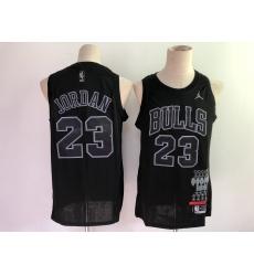 Men's Chicago Bulls #23 Michael Jordan Nike Black Swingman Player Jersey