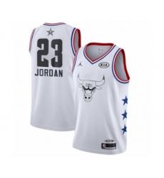 Men's Chicago Bulls #23 Michael Jordan Swingman White 2019 All-Star Game