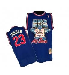 Men's Mitchell and Ness Chicago Bulls #23 Michael Jordan Swingman Blue 1992 All Star Throwback NBA Jersey