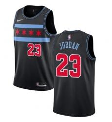 Men's Nike Chicago Bulls #23 Michael Jordan Swingman Black NBA Jersey - City Edition