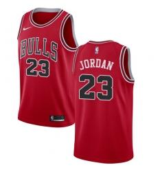 Men's Nike Chicago Bulls #23 Michael Jordan Swingman Red Road NBA Jersey - Icon Edition
