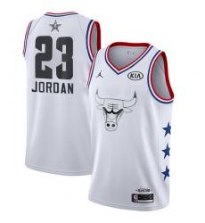 Men's Nike Chicago Bulls #23 Michael Jordan White Basketball Jordan Swingman 2019 All-Star Game Jersey
