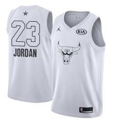 Youth Nike Chicago Bulls #23 Michael Jordan Swingman White 2018 All-Star Game