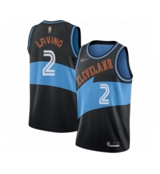 Women's Cleveland Cavaliers #2 Kyrie Irving Swingman Black Hardwood Classics Finished Basketball Jersey