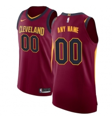 Men's Cleveland Cavaliers Nike Maroon Authentic Custom Jersey - Icon Edition