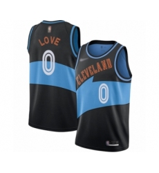 Women's Cleveland Cavaliers #0 Kevin Love Swingman Black Hardwood Classics Finished Basketball Jersey