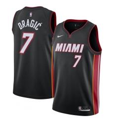 Men's Miami Heat #7 Goran Dragic Nike Black 2020-21 Swingman Jersey