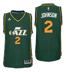 Utah Jazz #2 Joe Johnson Alternate Green New Swingman Jersey