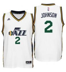 Utah Jazz #2 Joe Johnson Home White New Swingman Jersey