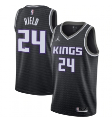 Men's Sacramento Kings #24 Buddy Hield Jordan Brand Black 2020-21 Swingman Jersey