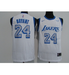 Men's Nike Los Angeles Lakers #24 Kobe Bryant White Swingman NBA Jersey