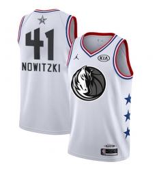 Youth Nike Dallas Mavericks #41 Dirk Nowitzki White NBA Jordan Swingman 2019 All-Star Game Jersey