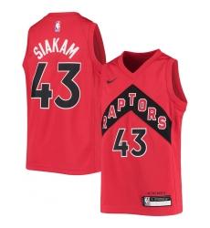 Youth Toronto Raptors #43 Pascal Siakam Nike Red 2020-21 Swingman Jersey