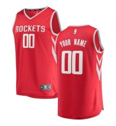 Men's Houston Rockets Fanatics Branded Red Fast Break Custom Replica Jersey - Icon Edition