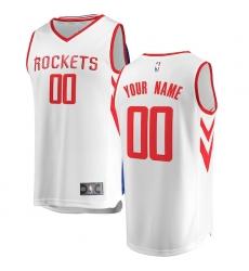 Men's Houston Rockets Fanatics Branded White Fast Break Custom Replica Jersey - Association Edition