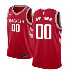 Men's Houston Rockets Nike Red Swingman Custom Jersey - Icon Edition