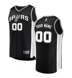 Men's San Antonio Spurs Fanatics Branded Black Fast Break Custom Replica Jersey - Icon Edition