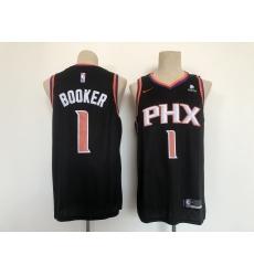 Men's Phoenix Suns #1 Devin Booker Swingman Black Basketball Jersey