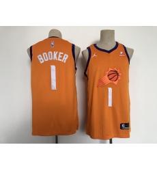 Men's Phoenix Suns #1 Devin Booker Swingman Orange Basketball Jersey