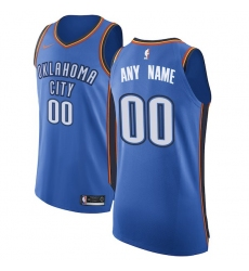 Men's Oklahoma City Thunder Nike Blue Authentic Custom Jersey - Icon Edition