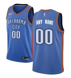 Men's Oklahoma City Thunder Nike Blue Swingman Custom Jersey - Icon Edition
