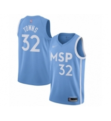 Men's Minnesota Timberwolves #32 Karl-Anthony Towns Swingman Blue Basketball Jersey - 2019 20 City Edition